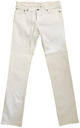 Prada White Cotton Jeans