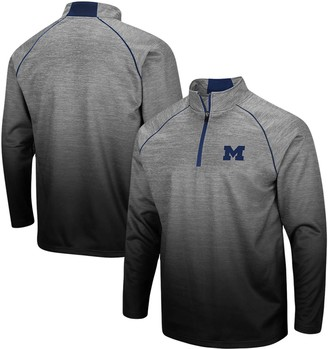 Colosseum Men's Heathered Gray Michigan Wolverines Sitwell Sublimated Quarter-Zip Pullover Jacket