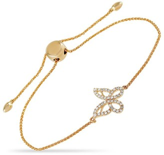 Non Branded 14K 0.30 Ct. Tw. Diamond Butterfly Bracelet