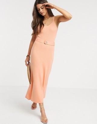 Fashion Union knitted midi dress with belt