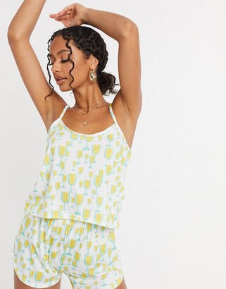 Adolescent Clothing prosecco glasses cami pyjama set