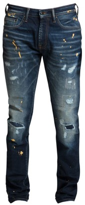 PRPS Windsor Metallic Paint Splatter Skinny Jeans