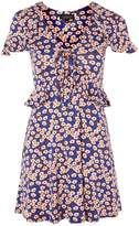 Topshop Daisy Print Frill Tea Dress