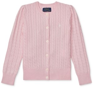 Polo Ralph Lauren Toddler Girls Cable-Knit Cotton Cardigan