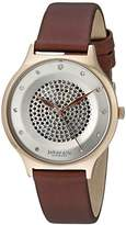 Johan Eric Women's JE1600-09-001.14 Orstead Analog Display Japanese Quartz Brown Watch