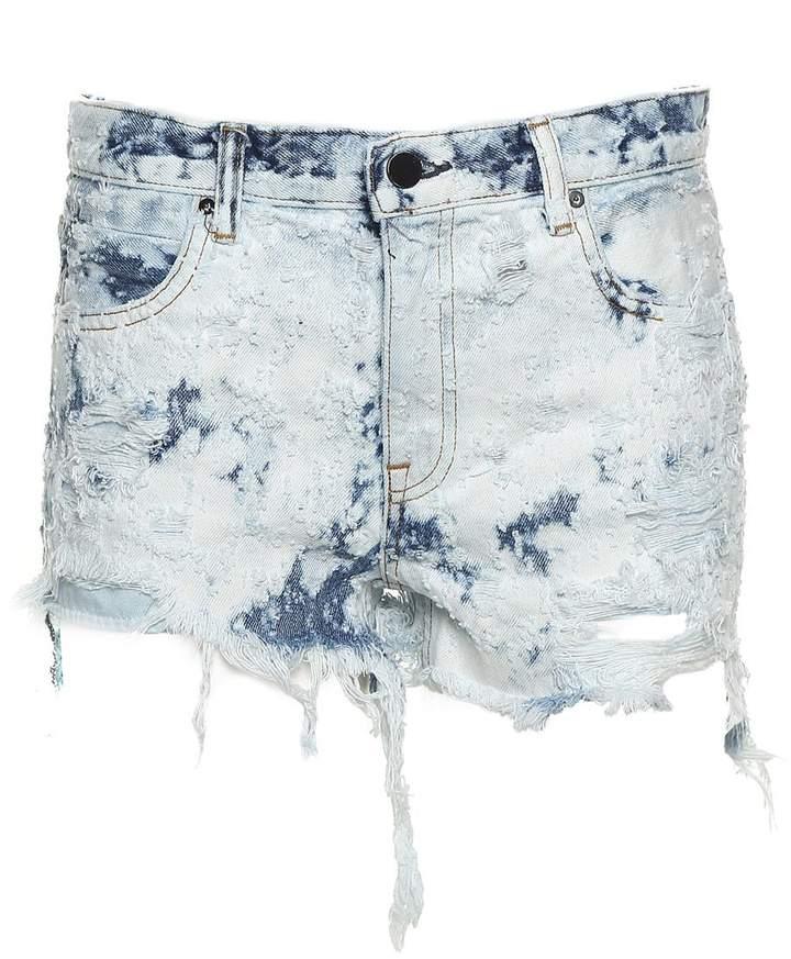 Alexander Wang Romp Distressed-denim Shorts