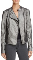 Vero Moda Miley Metallic Faux Leather Moto Jacket