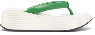 Givenchy Kyoto Platform-sole Leather Flip-flops - Womens - Green White