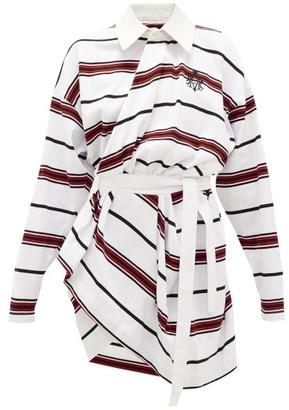 Matthew Adams Dolan Long-sleeved Striped-cotton Rugby Shirt Dress - White Multi