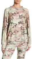 Wildfox Couture Rosette Camo Print Sweater
