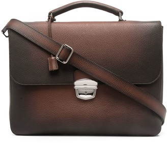 Orciani Ombre-Effect Leather Briefcase
