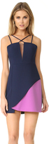 BCBGMAXAZRIA Colorblock Mini Dress