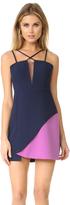 BCBGMAXAZRIA Colorblock Mini Dress