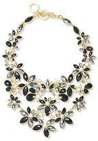 Anne Klein Flower Jet Epoxy Stone Necklace