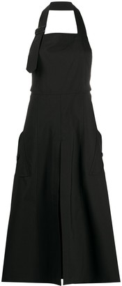 Junya Watanabe Halterneck Flared Midi Dress