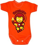 Colour Fashion Baby Ironman Bodysuits Shortsleeve 100% Cotton 0 - 24 months 0001