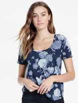 Lucky Brand Floral Print Scoop Neck Tee