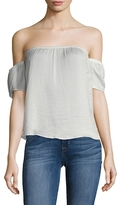 Lucca Couture Off Shoulder Washed Satin top