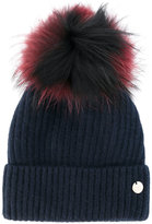 Yves Salomon Accessories removable pom pom knit hat