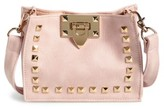 Capelli of New York Girl's Studded Faux Leather Crossbody Bag - Beige