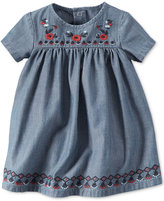 Carter's Baby Girls' Embroidered Chambray Dress