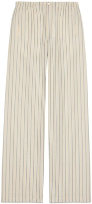Gucci Striped cotton pant with kitten
