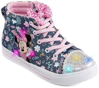 Disney Minnie Mouse Hightop Toddler Girls Lace up Sneakers