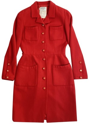 Chanel Red Wool Coats