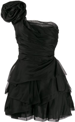 Ermanno Scervino One-Shoulder Taffeta Dress