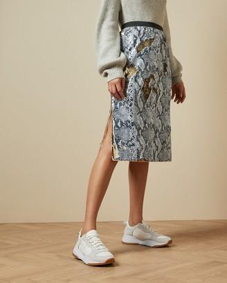 Ted Baker Snake Skin Sequin Skirt