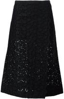 Sacai Macrame Lace Midi Skirt