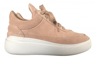 Filling Pieces Pink Leather Trainers
