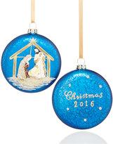 Holiday Lane Set of 2 Nativity Disk Ornaments