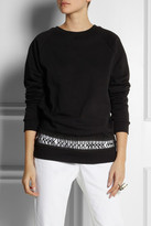 Christopher Kane Loop tape-trimmed cotton sweatshirt