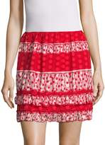 Anna Sui Women's Spring Dot Gathered Flare Skirt