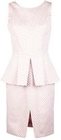 Christian Siriano Sleeveless peplum dress
