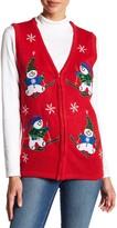 Cotton Emporium Snowman Patch Zip Vest