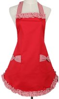 Aspire Cute Retro Vintage Lady's Kitchen Flirty Women's Aprons with Pockets Gift Idea-M