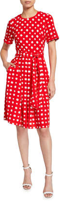 Maggy London Polka-Dot Dress with Pockets
