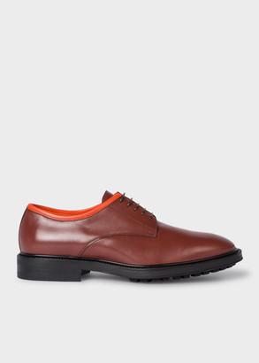 Men's Dark Tan Leather 'Rutford' Derby Shoes