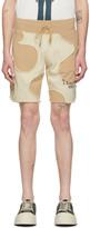 Telfar Khaki and Off-White Camo Cut-Off Sweat Shorts