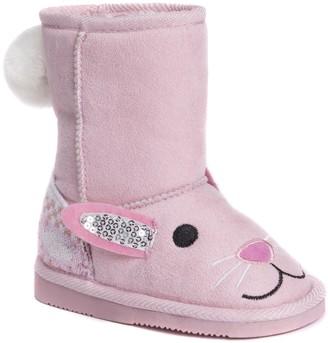 Muk Luks Girls Bonnie Pink Bunny Boots Fashion 10 M US Little Kid