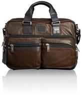 Tumi 'Bravo' Leather Commuter Briefcase - Brown