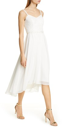 Ted Baker Rosemary Daisy Dip Hem Dress