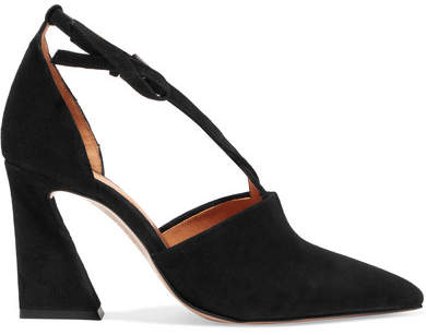 Ganni Lina Suede Pumps - Black