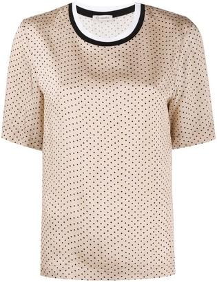 Peserico polka dot print T-shirt