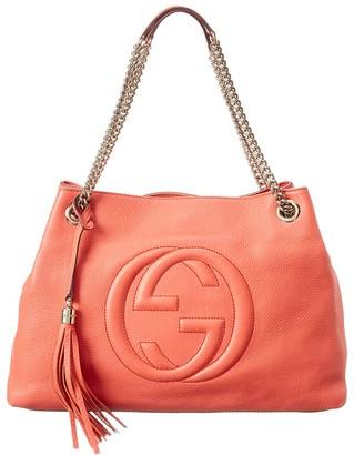 Gucci Peach Leather Chain Soho Bag
