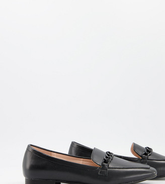 Raid Wide Fit Artie loafers with colour drenched trim in black