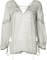 Derek Lam 10 Crosby tassel frill trim blouse - women - Cotton - 0