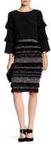 Nicole Miller Knit Fuzzy Stripe Pencil Skirt